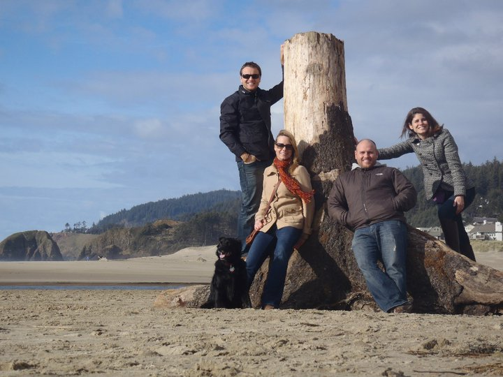 The Krass fam at Cannon Beach