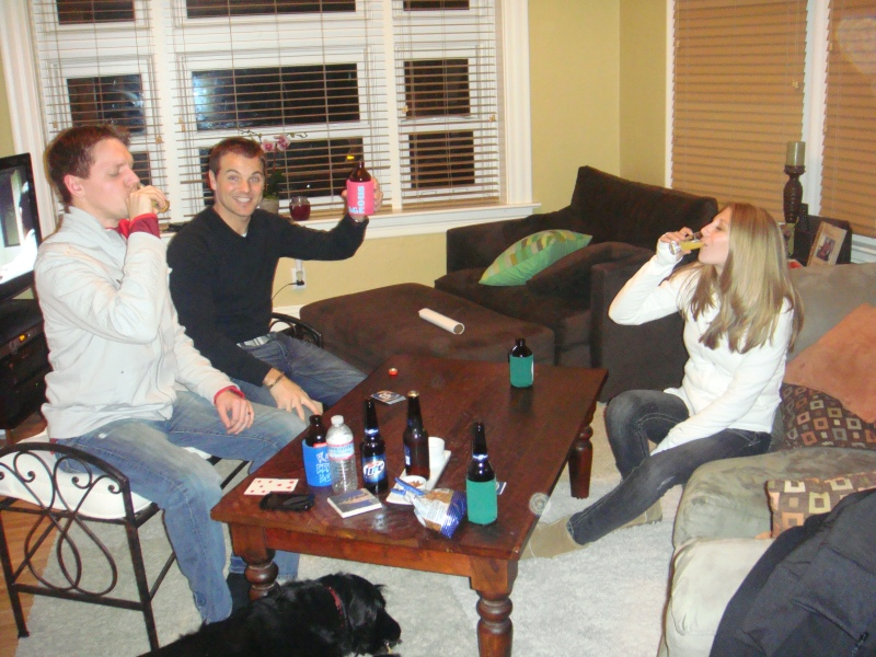 Shots for the euchre loss