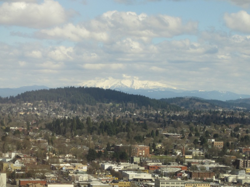 You can ALMOST see Mt. Hood!