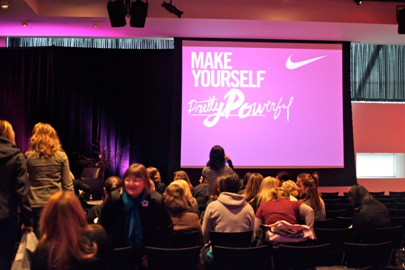 Getting ready for the Nike event with Bobbi Brown