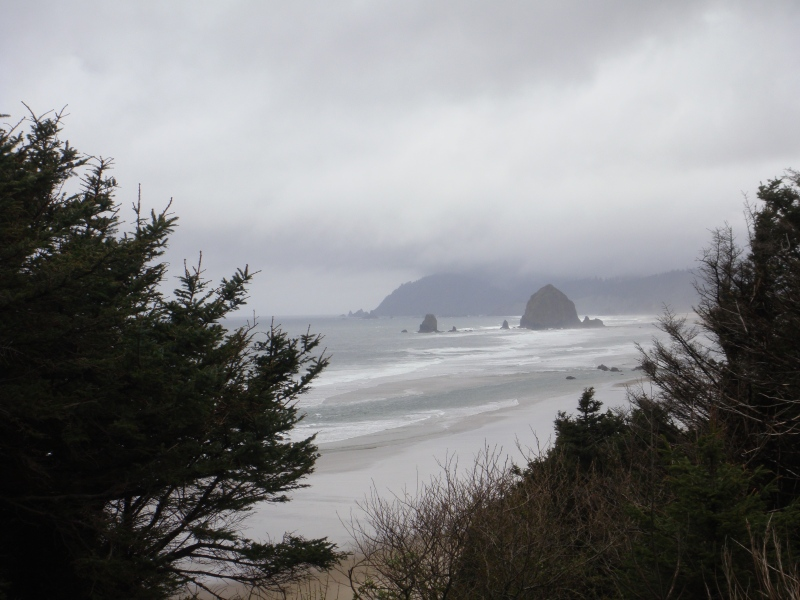Haystack Rock from a distance