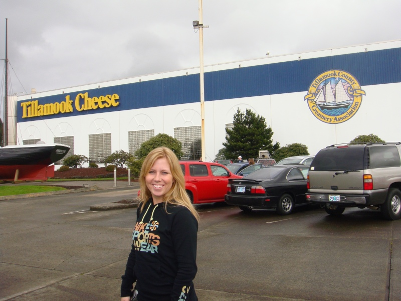 Shelly at the Tillamook Cheese Factory