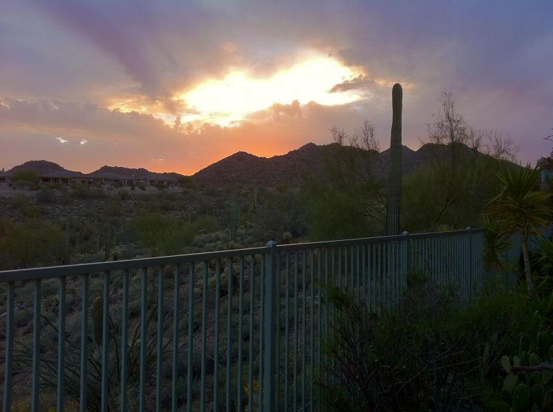 Amazing Arizona sunset from the Krasses' back patio
