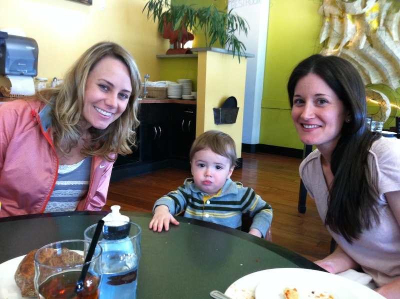 Lunch at MiNGO with Stephanie and Noah (and Shelly and Jeff)