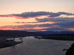 Bonus photo: Look at this sunset over the Willamette River!