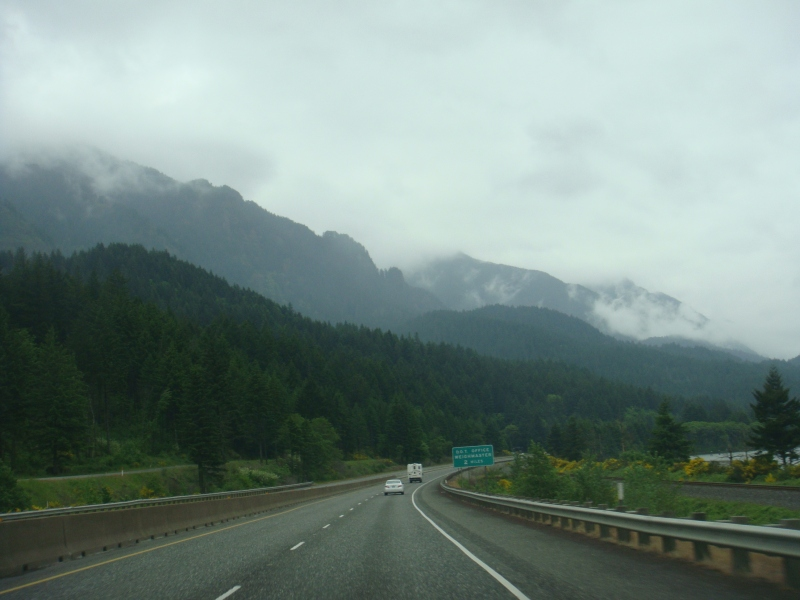 Rainy weather coming in the Columbia River Gorge
