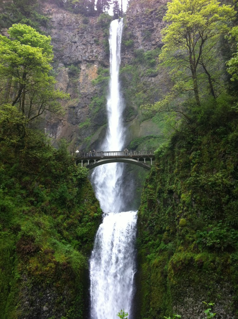 The beautiful Multnomah Falls