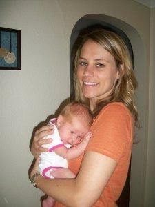 Holding my new little niece Macy