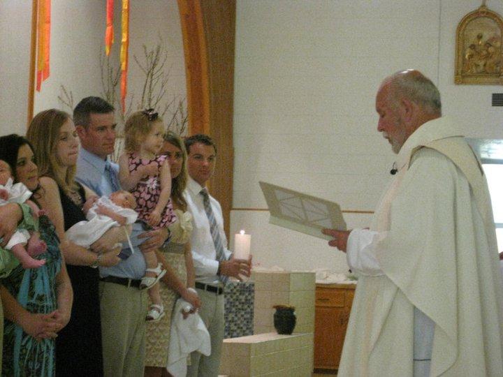 The baptism at St. Joe's in Auburn