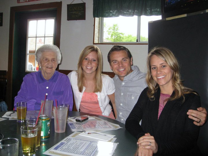 Grandma, Shelly, Jeff & me at Linwood Hotel
