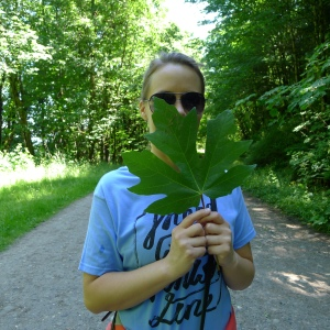 One big leaf on Leif Erickson Trail