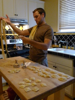 Jeff making lots of pasta!