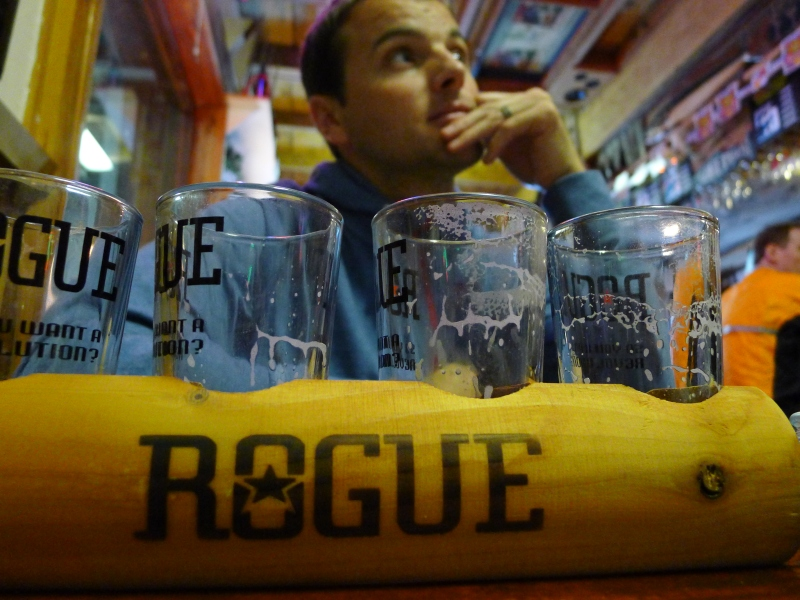 In Rogue Brewers by the Bay, at their headquarters