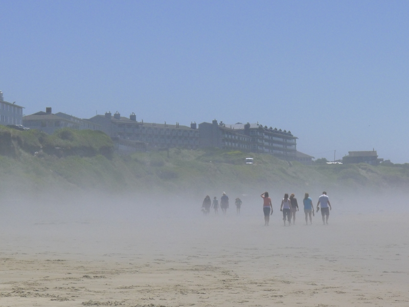 Mist from the ocean