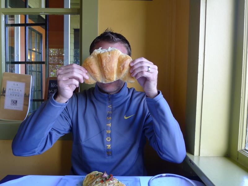 Monster croissant at La Maison in Newport