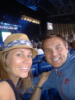 Jeff and I enjoying The Monkees concert