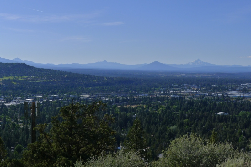 Overlooking Bend and the Cascade Mountains