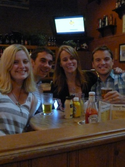 The four of us at Bend Brewing Company (the BBC)
