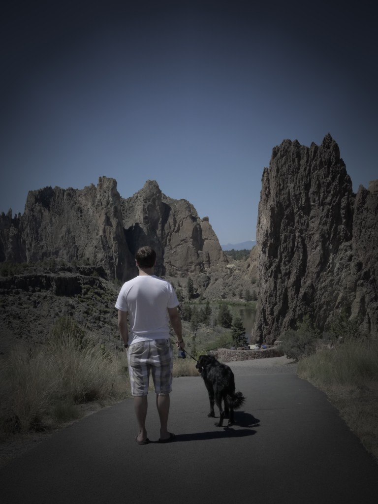 Jeff and Cooper checking out Smith Rock