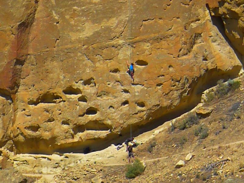 Daring mountain climbers!
