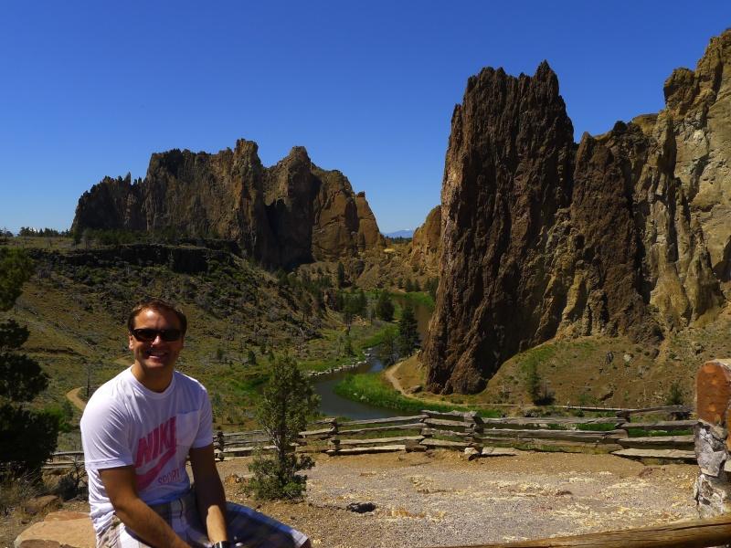 Jeff overlooking Smith Rock near Redmond, Oregon