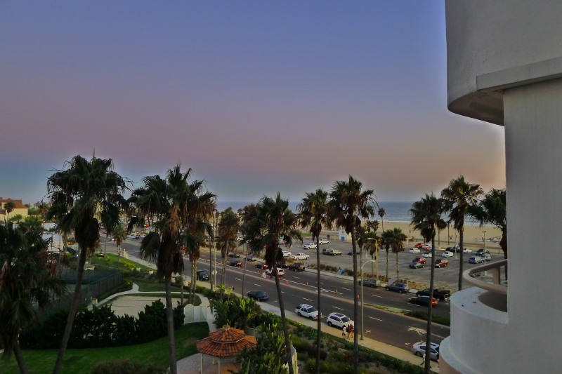 View from my balcony - ah, beautiful ocean!