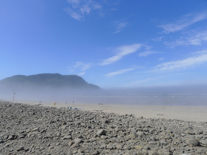 The misty Seaside shore