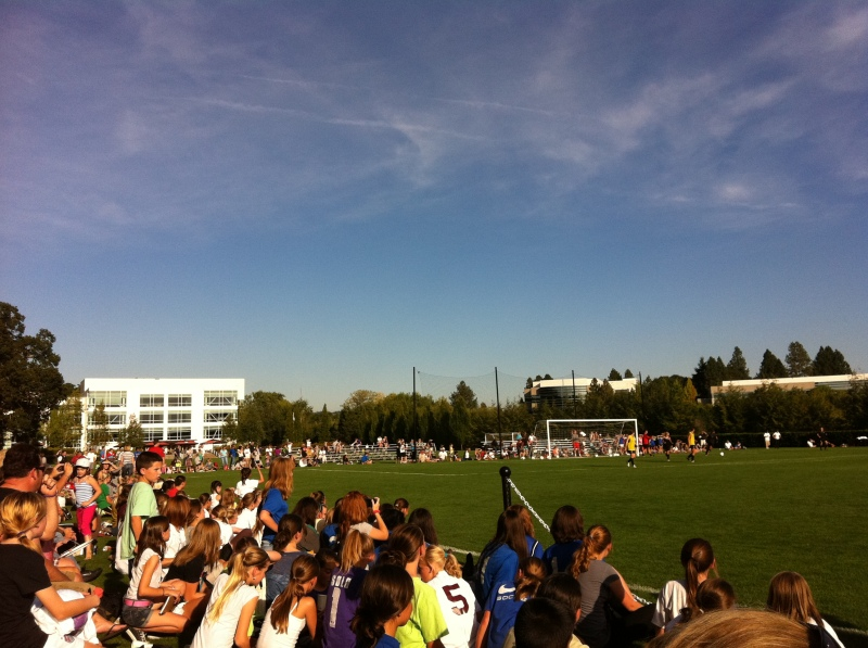 The crowds came out to watch the U.S. Women's National Soccer Team practice