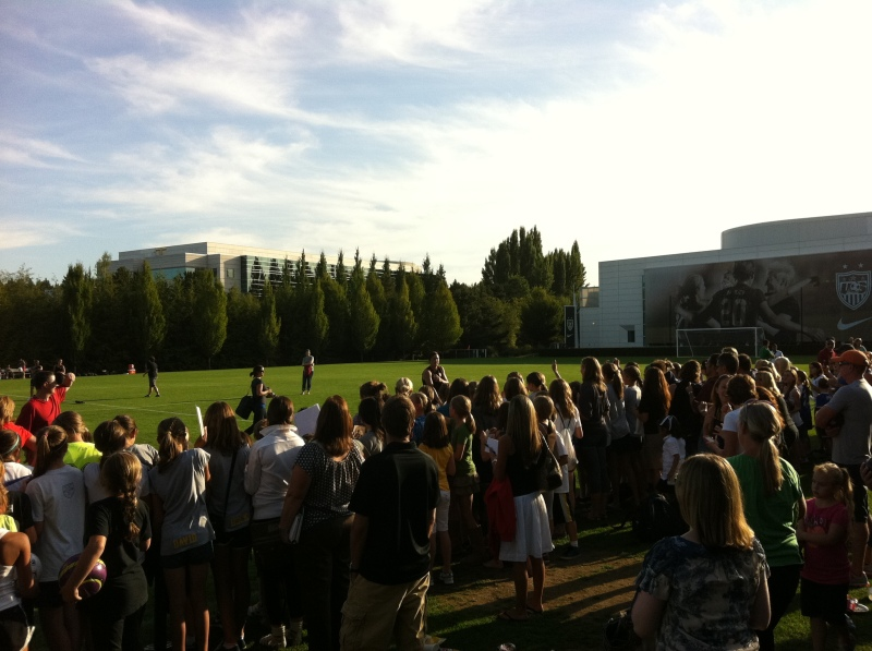 U.S. Women's National Soccer Team at the Nike campus!