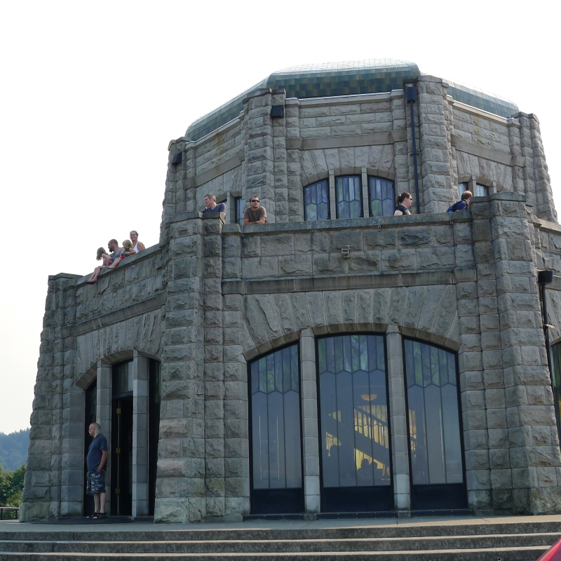 Jeff and Cory checking out the views from the Vista House