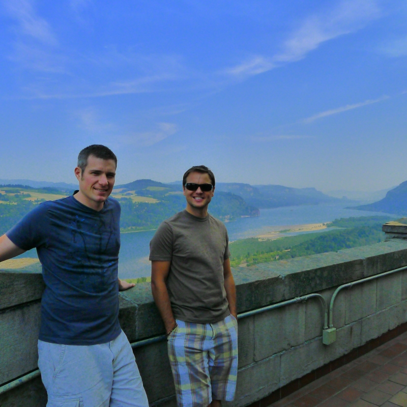 Cory and Jeff overlooking the Columbia River