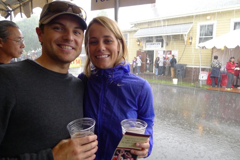 Sudden downpour at the Polish Fest