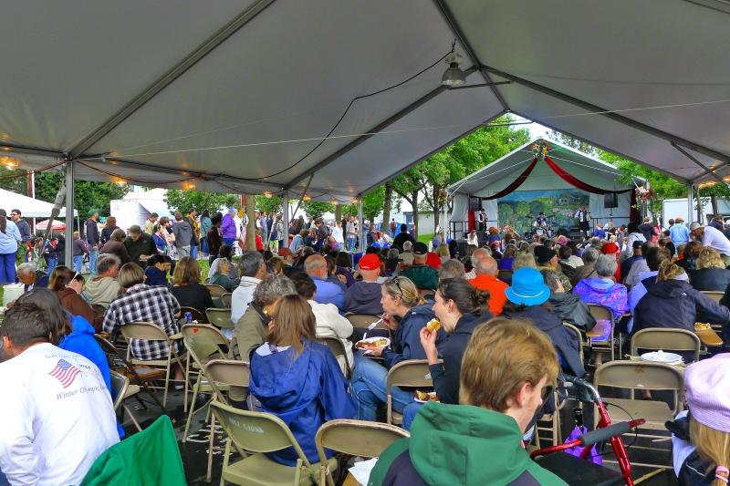 Big ol' crowd at the Portland Polish Fest