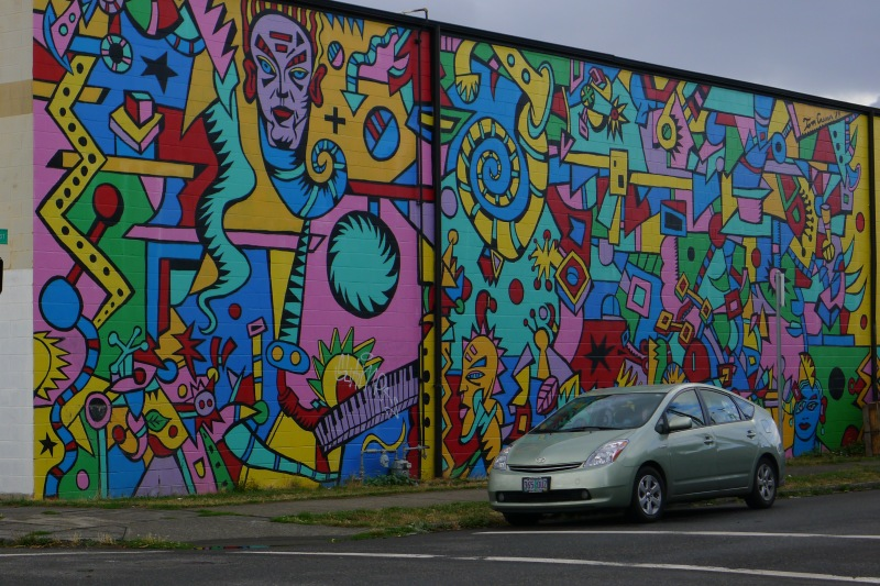 Funkalicious wall art in Northeast Portland