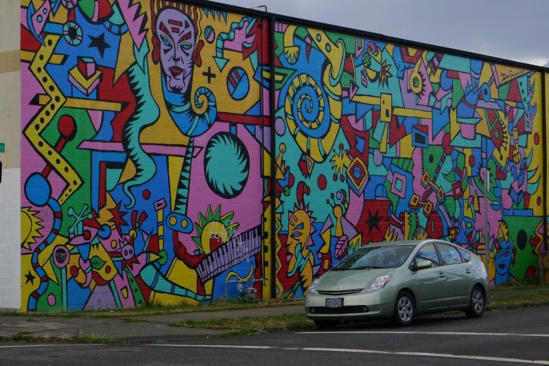 Funkalicious wall art in Northeast Portland