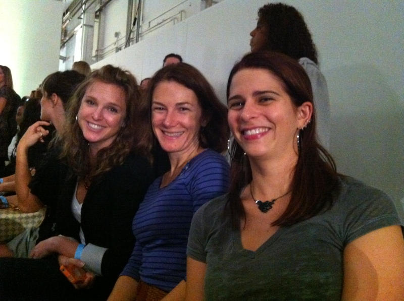 Nike co-workers and fashion show fans Kristen, Christina and Susan