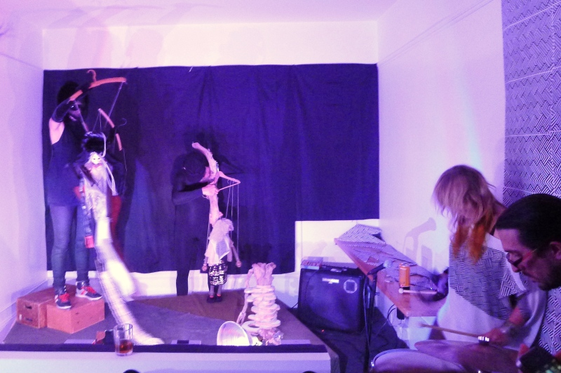 The puppeteers in yet another trippy room at Content 11
