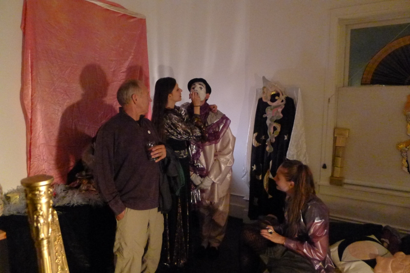 Bob checking out some weirdo clown in one designer's room