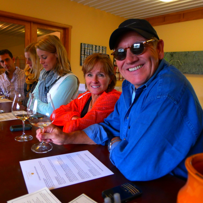 The crew tasting at Patton Valley Vineyards