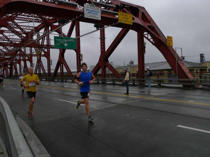 Doug at Mile 24, crossing the Broadway Bridge