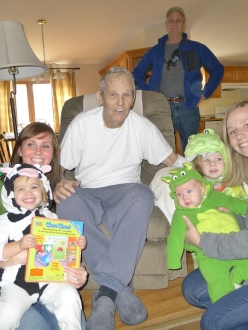 Spending time with Grandpa Redick before we head to Saginaw Zoo Boo
