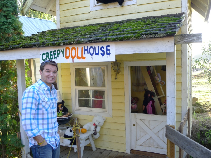 "A very odd ""Creepy Doll House"" in the Cowboy Town"