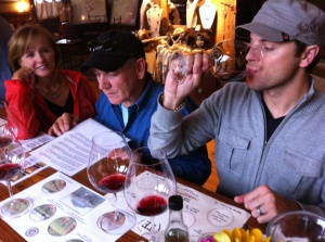 Tasting the Ken Wright wines in Carlton, Oregon