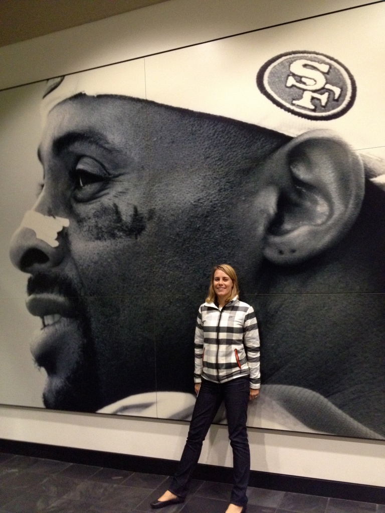 Me in the Jerry Rice Building at Nike (my second home)