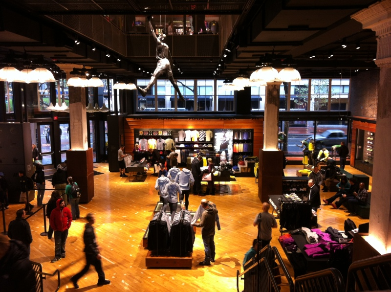 The new Nike Portland store in downtown Portland