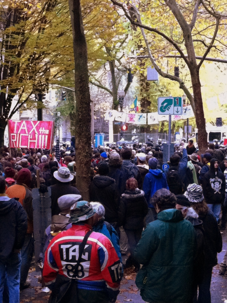 The Occupy Portland demonstrators being evicted from the park