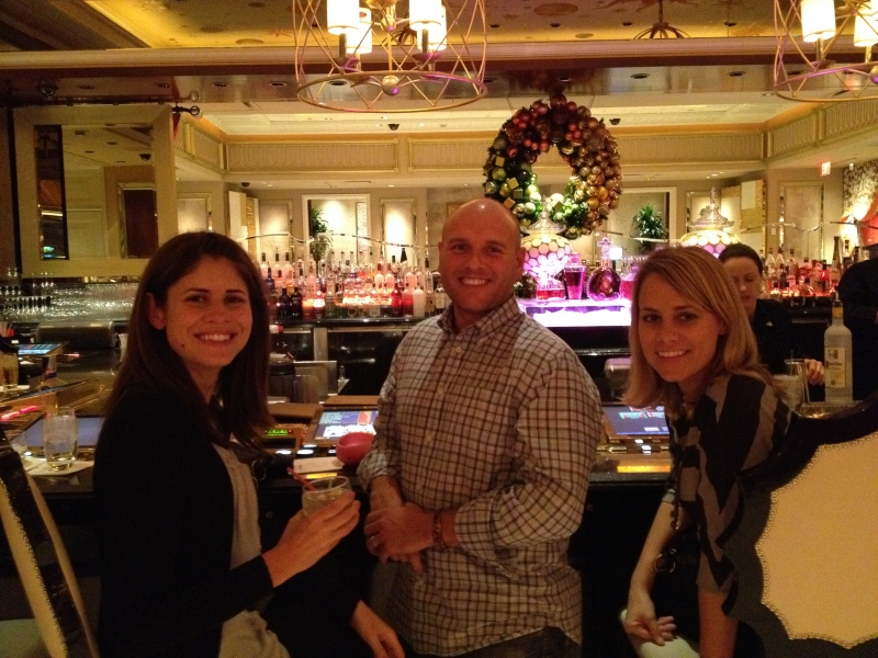 Grabbing a drink at the Wynn's M Bar at about 2 a.m. in the morning
