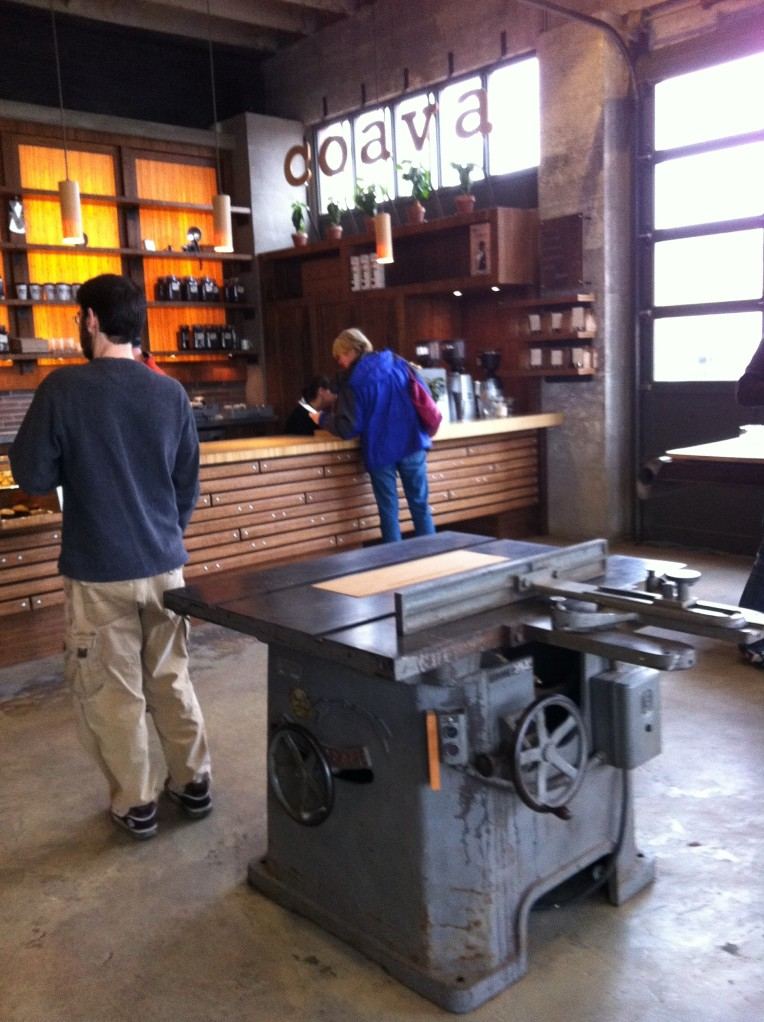 Woodshop feel to the Coava shared space