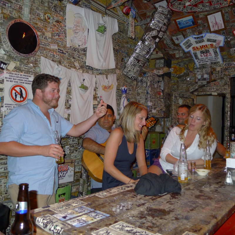 "Our Michigan friends at the ""smallest bar in the world"""