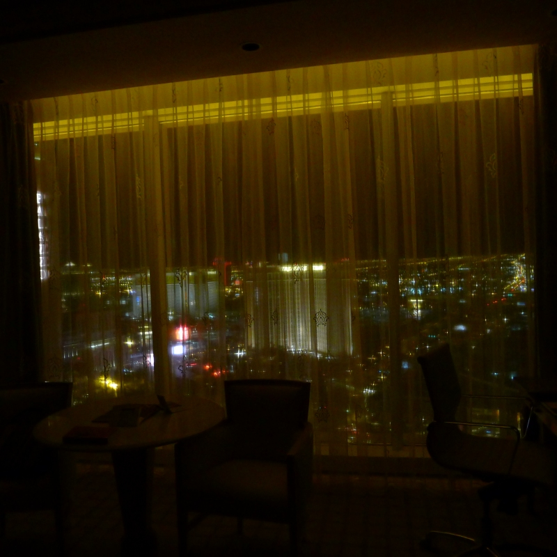 Nighttime view from our room